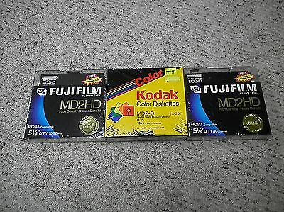 NEW SEALED Lot of 30 5.25 Disk Diskette Kodak  Fujifilm Double Sided FREE SHIP
