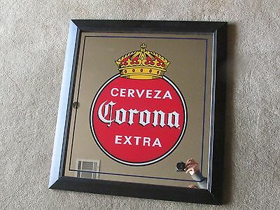 "28"" Corona Extra Cerveza Nostalic Crown Beer Sign Mirror Man Cave Brewery Bar"