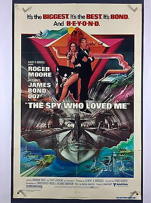SPY WHO LOVED ME (Good+) Movie Poster 1977 One Sheet Roger Moore James Bond 2777