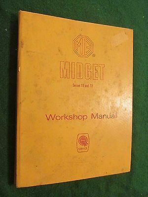 1950's MG Midget TD-TF FACTORY Service Manual; Dated 7/55--Covers Through 1956
