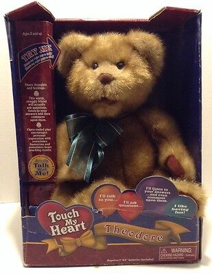 Touch My Heart Theodore Interactive Talking Bear 2002 Smart Group NEW in Box