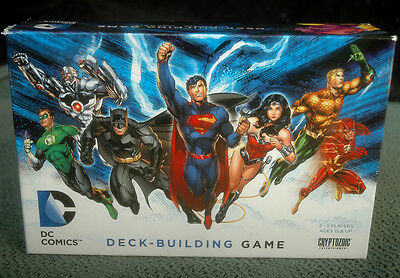 DC Comics Deck-Building Card Game Set Cryptozoic 2012 - 100% COMPLETE