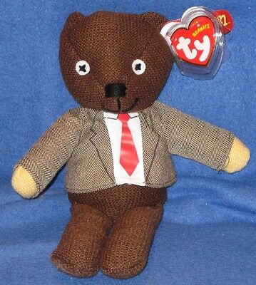 TY MR. BEAN BEANIE BABY (with JACKET and TIE) - UK EXCLUSIVE - MINT TAGS