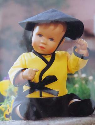KATHE KRUSE UFDC DOLL CONVENTION 1992 Baby Boy Asian Clothes Hat Set Lot
