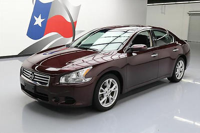 2014 Nissan Maxima  2014 NISSAN MAXIMA 3.5 S SUNROOF MIDNIGHT GARNET 18K MI #905888 Texas Direct