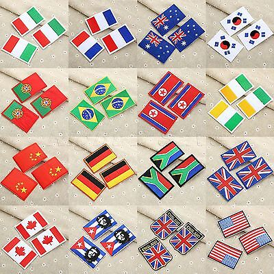 16 Sizes Flag Embroidered Patch Sewing Ironing on Jeans Bags Jackets DIY Craft