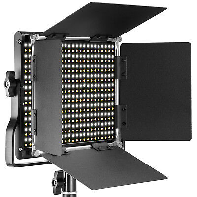Neewer Dimmable Bi-color LED with U Bracket and Barndoor Video Light for Studio