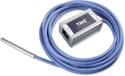 Ethernet Temperature Thermometer TME IP network email alerts web login Papouch