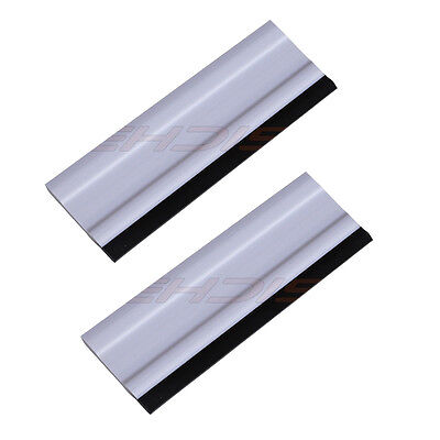 "2 Car Wrapping Squeegee, Decal Vinyl Tool, 6"" Block Squeegee w/ Rubber Blade UK"