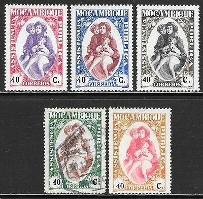MOZAMBIQUE 1931 Postal Tax Mint and Used Issues Selection (Feb 0053)