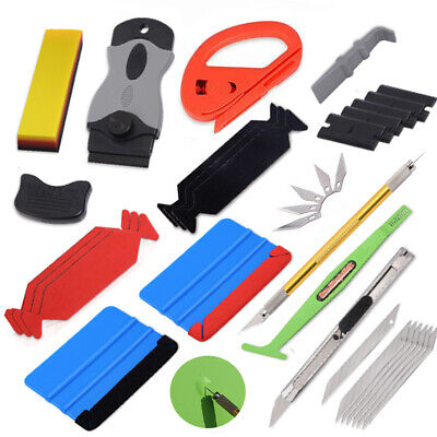 10in1 Car Wrapping Squeegee, Window Tint Install Tool Kit Rubber Scraper UK SHIP