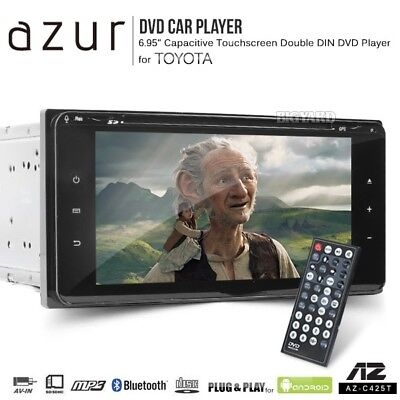 AZUR 200mm Toyota Double DIN Car Bluetooth DVD Player Touchscreen Stereo (Japan)