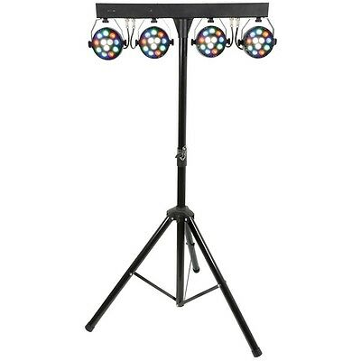 QTX PB-1214 LED PAR Bar DJ Disco Stage Band Portable Lighting System with Remote