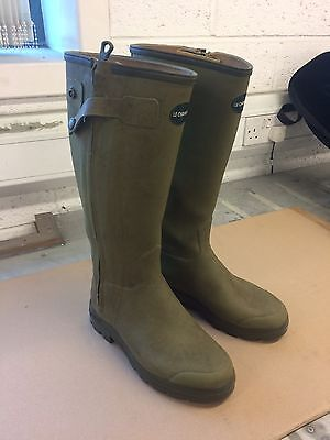 Le Chameau Chasseur Leather Lined Wellington Boot Size UK 9 42