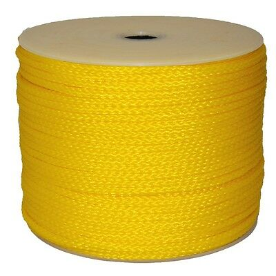 """T.W. Evans Cordage Co. 27-401 - 5/16"""" X 250' Yellow Hollow Braid Polypro Rope"""