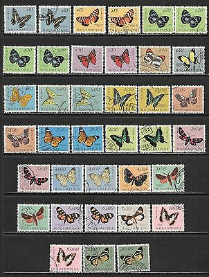 MOZAMBIQUE Butterflies and Moths Mint and Used Issues Selection (Feb 0055)
