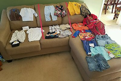 Boys baby clothes size 0-3, 6-9, 18M Read mixed lot of 21 (b031218)