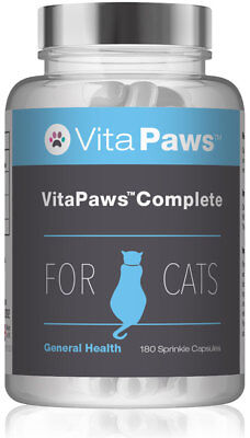 Complete for Cats By VitaPaws™ 180 Sprinkle Capsules | Advanced Multi-Nutrient