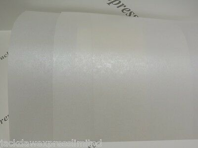 Vellum Parchment Translucent Pearlescent Paper 115gsm or 235gsm A5 A6 Pale Ivory