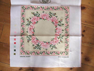 """Laura Ashley Tapestry Kit Cushion Front  13"""" Square  Country Roses"""