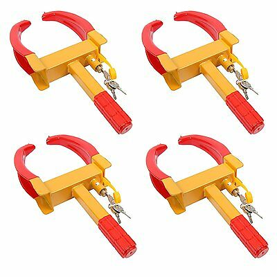4X Wheel Lock Clamp Boot Tire Claw Auto Car Truck RV Boat Anti-Theft Towing