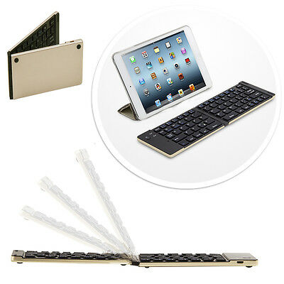 Faltbahre Bluetooth keyboard Tastatur Sony Tablet Xperia Z3 Tablet -  F66 Gold