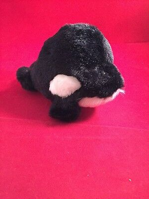 Puffkins TOBY WHALE plush Orca killer whale #6634 by Swibco