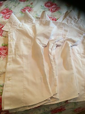 Children's White School Shirts Age 5-6