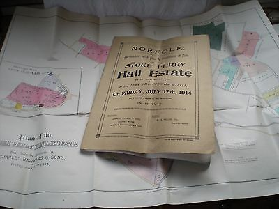 Particulars/PLAN & Conditions Of Sale Of THE STOKE FERRY HALL ESTATE -17/7/1914