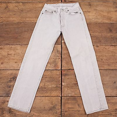 Womens 1990s USA Vintage Levis 501 Denim Jeans Light Grey Size 28 x 30 R3739