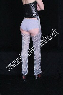 Medieval Chain Mail Leggings Butted Chainmail Chausses Medium Larp WEARABL ZINK