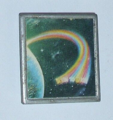 1970's RAINBOW BAND METAL PIN BADGE - Down To Earth LP Cover Picture