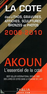 AKOUN cote Bronze Litho Gravure Photo Affiche 2009-2010