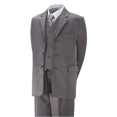 Best value boys quality wedding party suit sizes 2 yrs- 12 yrs new Black or Grey