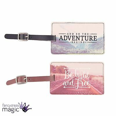 *Sass & And Belle PVC Wanderlust Adventure Travel Luggage Tag Label Retro Gift*