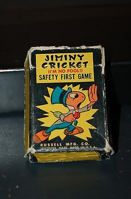 Jiminy Cricket Safety First Playing Cards in Original Box ~ Disney Vintage