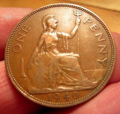 1940 One Penny George Vi th