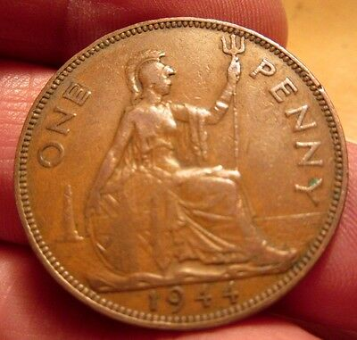 1944 One Penny George Vi th