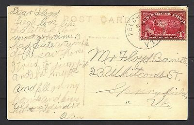 1913 US Post Card To Springfield