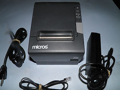 Micros Epson TM-T88V M244A Thermal POS Receipt Printer IDN w Power Supply Micros