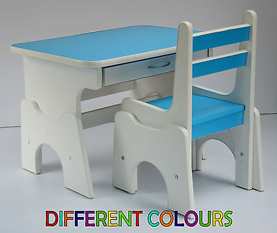 DESK AND CHAIR SET wood School Drawing Homework Table Stool For Kids Children
