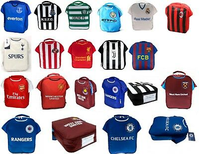 Football Club Childs School Infant Kids Lunch Box Kit Boys Sports Bag Utd Spurs