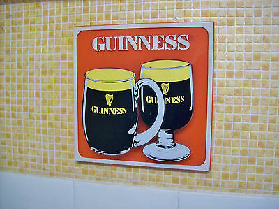 1960's GUINNESS ADVERTISING 3D EFFECT WALL SIGN