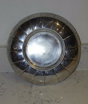 Stunning Vintage Scalloped Silver Plate Art Deco Dish
