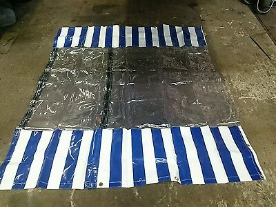 tarpaulin for market stall very heavy duty ideal for blocking out wind and rain