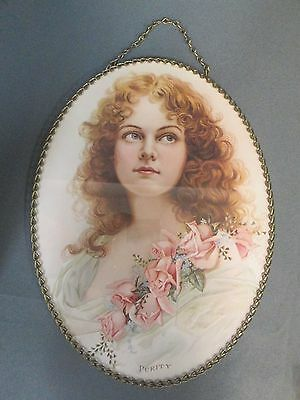 Victorian Beautiful Gallery Graphics Chimney Flue Cover Purity Lady Flowers Coll