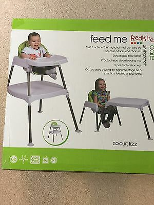 High Chair 2in1 Table And Chair Red kite