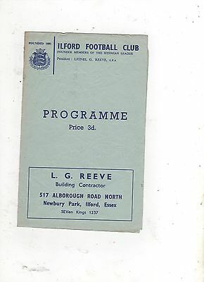ILFORD v LEYTONSTONE ( ESSEX THAMESIDE TROPHY--FINAL) 1965/66