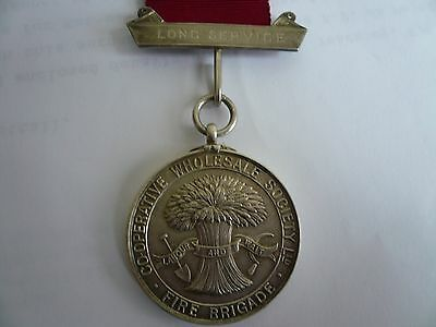 Original Old  Long Service Silver Medal - C.w.s.fire Brigade