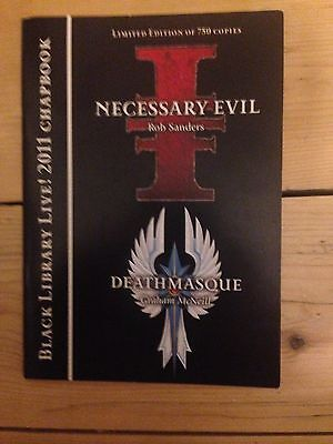Black Library Live 2011 Chapbook Necessary Evil / Deathmasque Oop Warhammer 40K